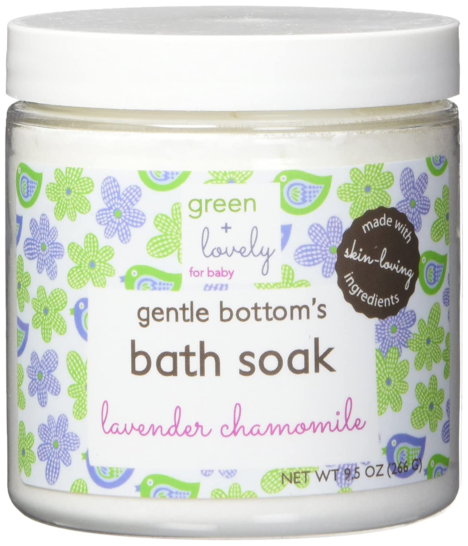 Green + Lovely gentle bottom's baby bath soak, lavender chamomile- 8 ounce