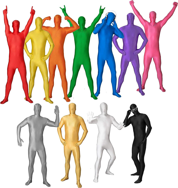 Funsuits Original FUNSUIT - Disfraz de Segunda Piel (Pegado al Cuerpo) Carnaval Halloween - Rojo - Talla S / M / L / XL / XXL [L]