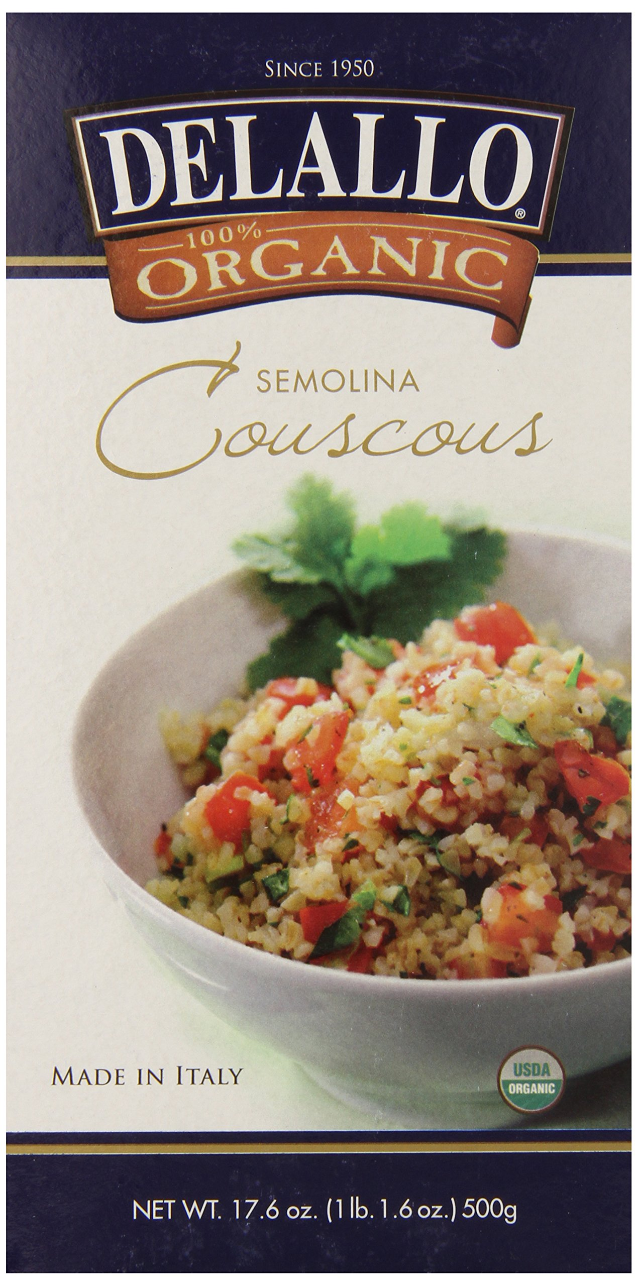 DeLallo Organic Couscous, 17.6-Ounce Unit (Pack of 6)