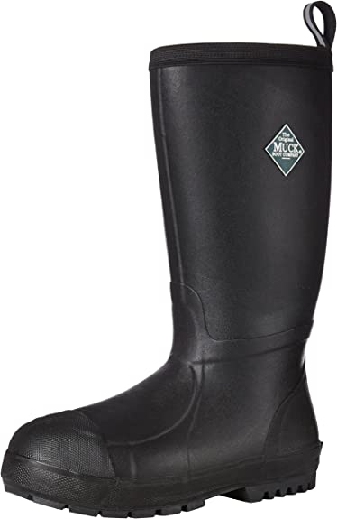 Muck Boot Chore Classic Tall Steel Toe Mens Rubber Work Boot W// Metatarsal Guard