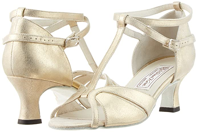 Werner Kern Damen Tanzschuhe Astrid 5.5 Leder Perl Nude 5,5 cm Made in Italy