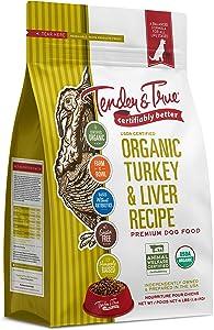 Tender & True Organic Turkey & Liver Recipe Dog Food, 4 lb