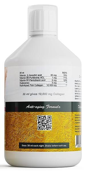 Liquid Body Premium Marina Colágeno (500ml) Alto dosis 10.000 mg Anti-edad Fórmula - Promueve SALUDABLE PIEL, Cabello, , Uñas & Articulaciones - DELICIOUS ...