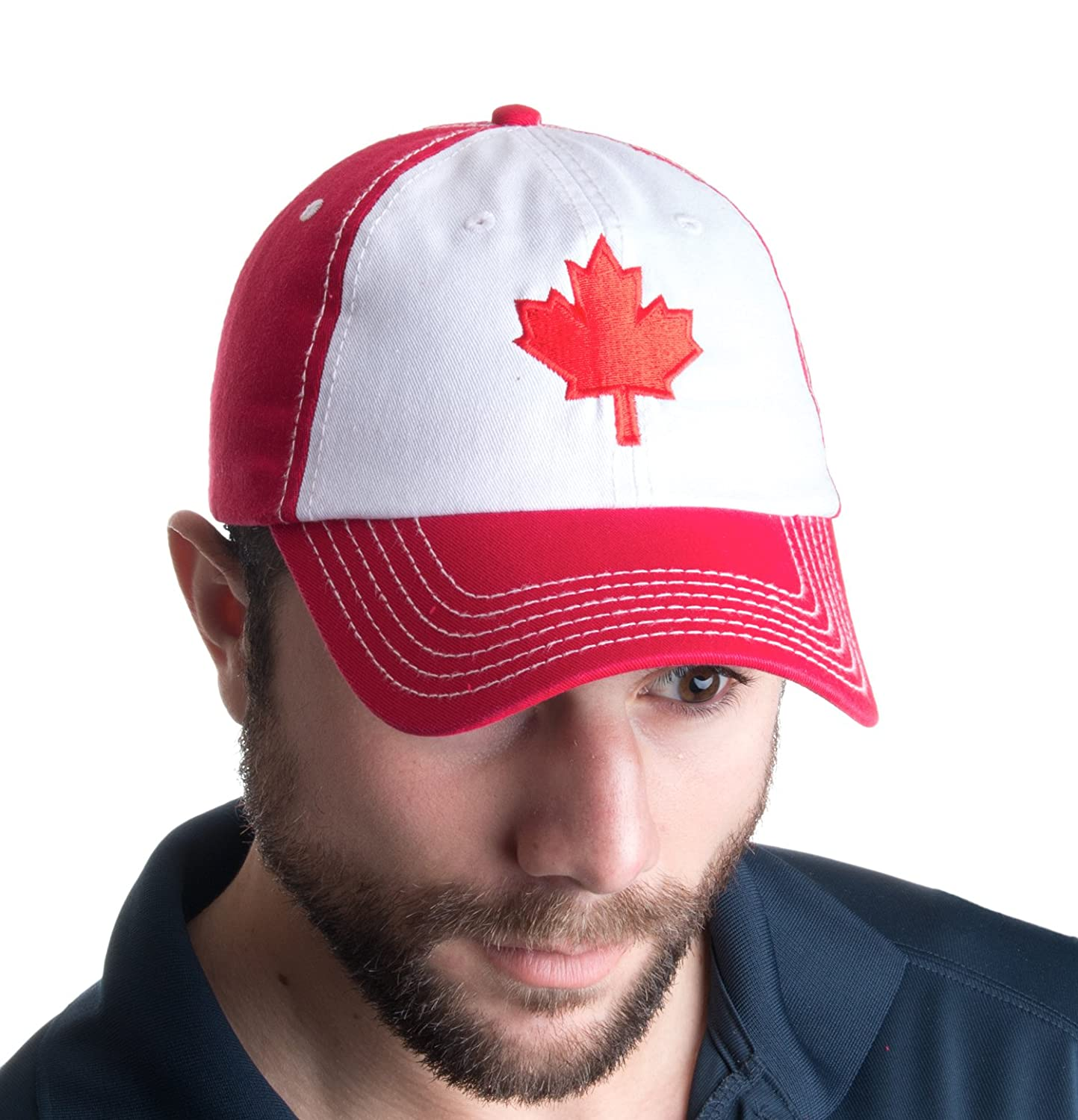 40089bd65f Amazon.com: Canada Maple Leaf Hat | Canadian Pride Embroidered Adult Twill Baseball  Cap: Clothing
