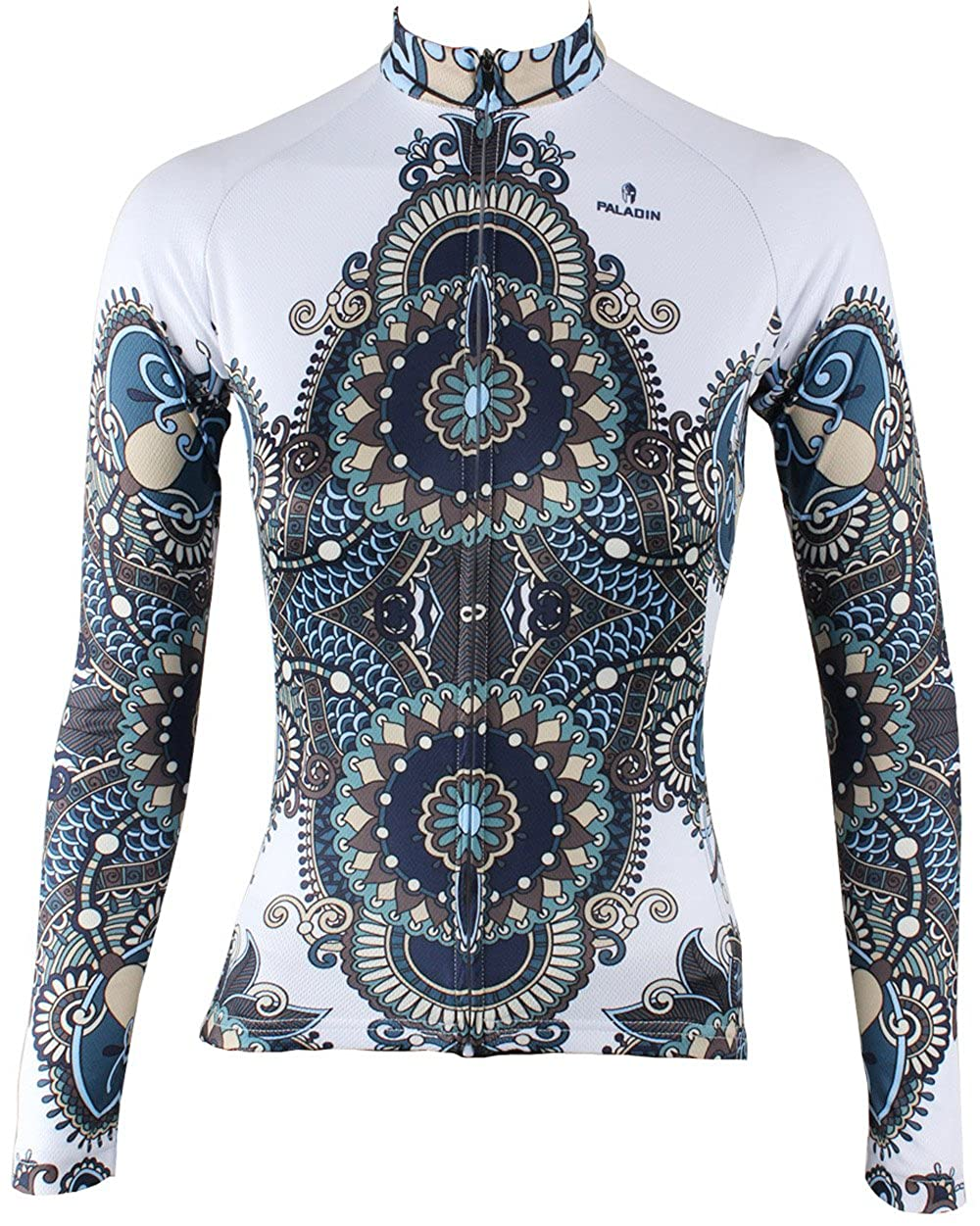 QinYing Women Patterns Stylish Breathable Bicycle Jersey Long Sleeve QYcycle314
