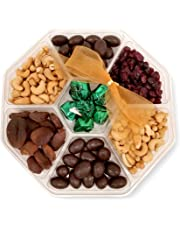 Holiday Nut Fruit Tray Assortment with Gourmet Chocolate - Prime Food Gift Delivery - Women, Men, Family, Corporate Birthday, Anniversary, Get Well, Sympathy, Party - by Pellatt Cornucopia