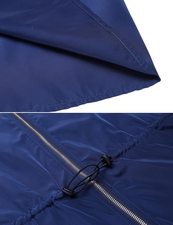 SummerRio Womens Rain Jacket Hooded Waterproof Raincoat Lightweight Outdoor Windbreaker,S-XXL