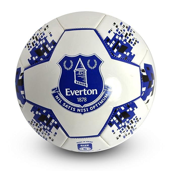 amazon com everton fc official crest design nova soccer ball size 5