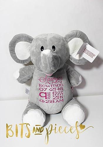 Amazon Com Cubbies Personalized Stuffed Animal Birth Announcement