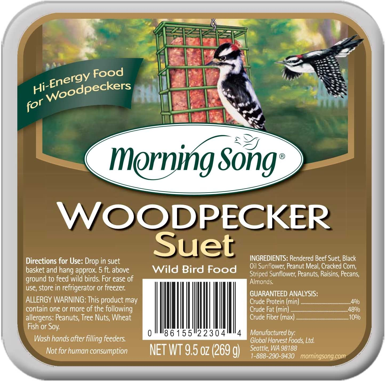 Morning Song 11462 Woodpecker Suet Wild Bird Food, 9.5-Ounce, 9-1/2-Ounce
