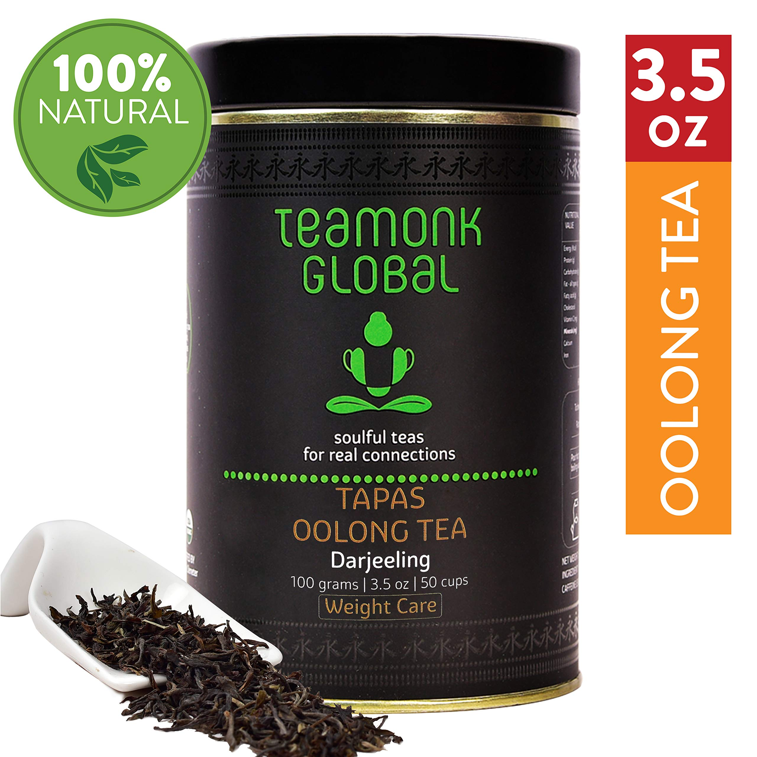 Darjeeling Oolong Tea, 3.5oz (50 Cups)   Supports Weight Loss   100% Natural Whole Loose Leaf Tea from the Himalayas   No additives