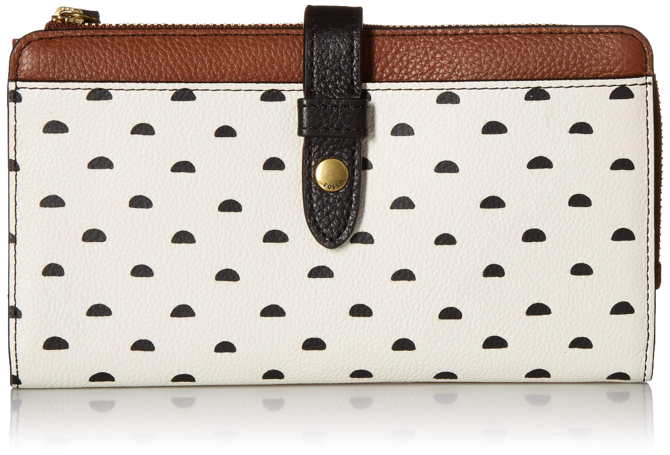 Fossil Fiona Tab Clutch White Multi
