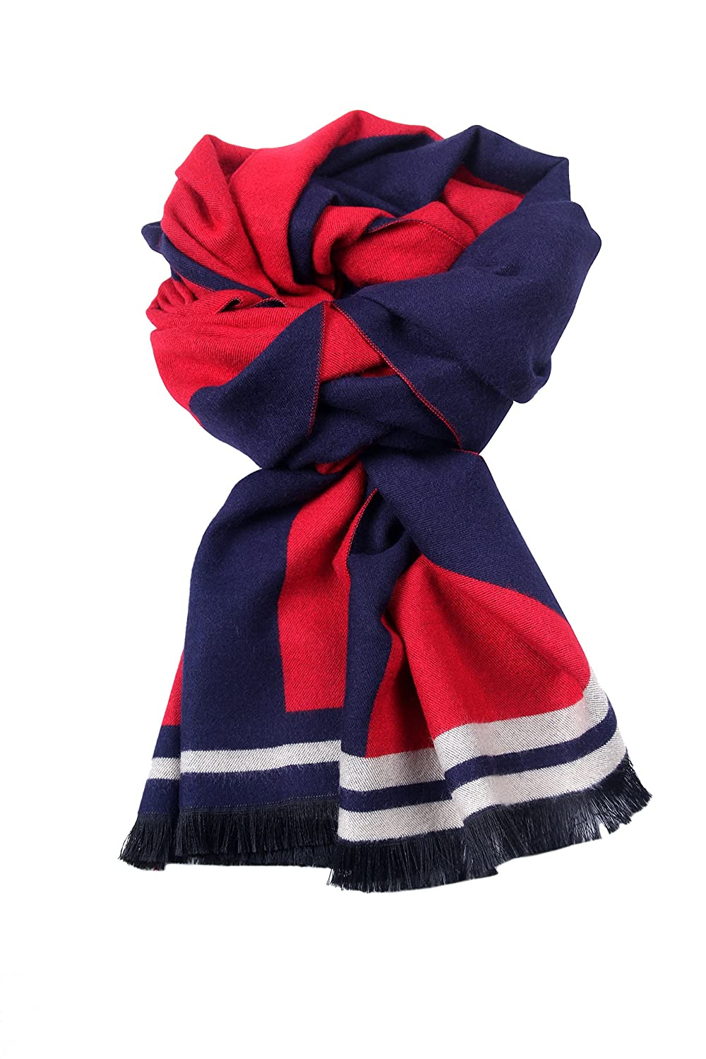 Runtlly Mens Classic Super Soft Luxurious Cashmere Feel Winter Scarf