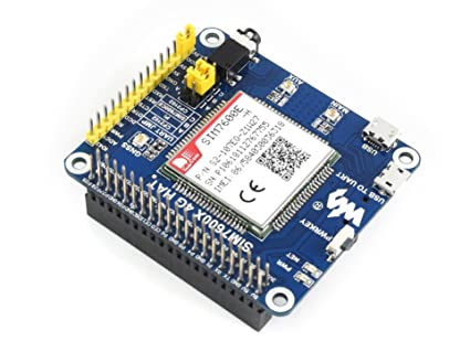Amazon Com Waveshare 4g 3g 2g Gsm Gprs Gnss Hat For Raspberry Pi