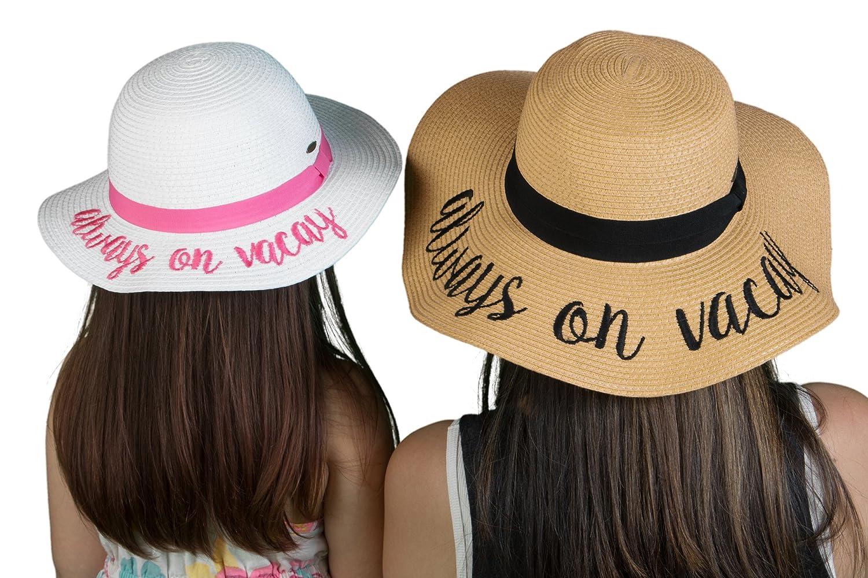210d98d926b Amazon.com  H-17-AOV32-09 Always on Vacay Sun Hat Bundle - Mom (NAT) Girl  (White)  Clothing