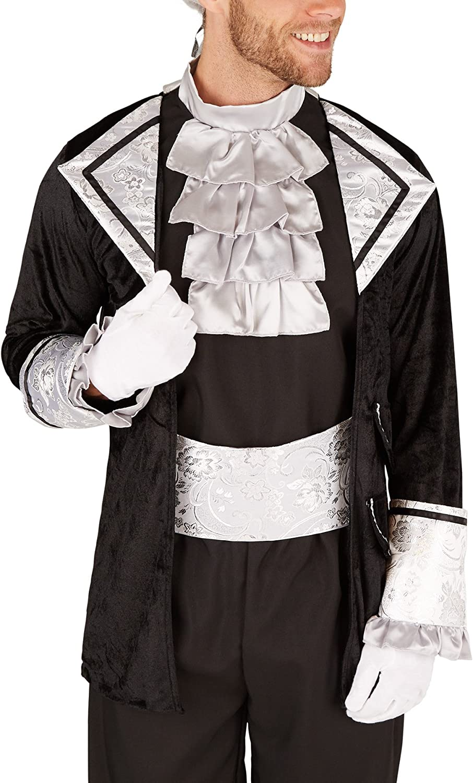 con Calze e Fascia in Vita S   No. 301399 Magnifica Giacca e Comodi Pantaloni Conte Barocco TecTake dressforfun Costume da Uomo