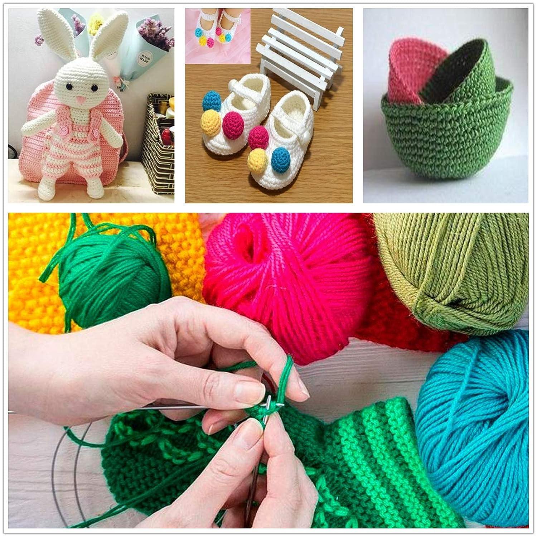 B L with Knitting Needles Case 11Pair-11 Size,14 inches -8mm Straight Needles Set Yeestone Knitting Needle Set,22pcs Stainless Steel Single Pointed Sweater Knitting Needles Kit 2mm