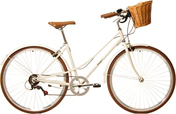 Kamikaze Kawaii Bicicleta híbrida Paseo 7 velocidades Crema ...