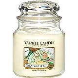 Yankee candle 114504E Christmas Cookie Candele in giara media, Vetro, Giallo, 10.6x9.8x13.2 cm