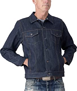 product image for Tellason Made in USA Men's 16.5 oz Japanese Kaihara Raw Selvedge Denim Jean Jacket