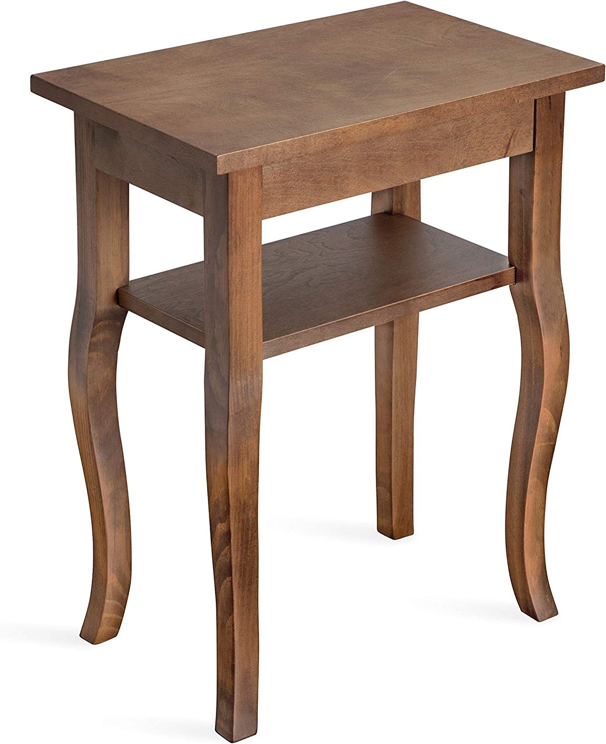 Kate and Laurel Lillian Wooden Side Table with Shelf, 18