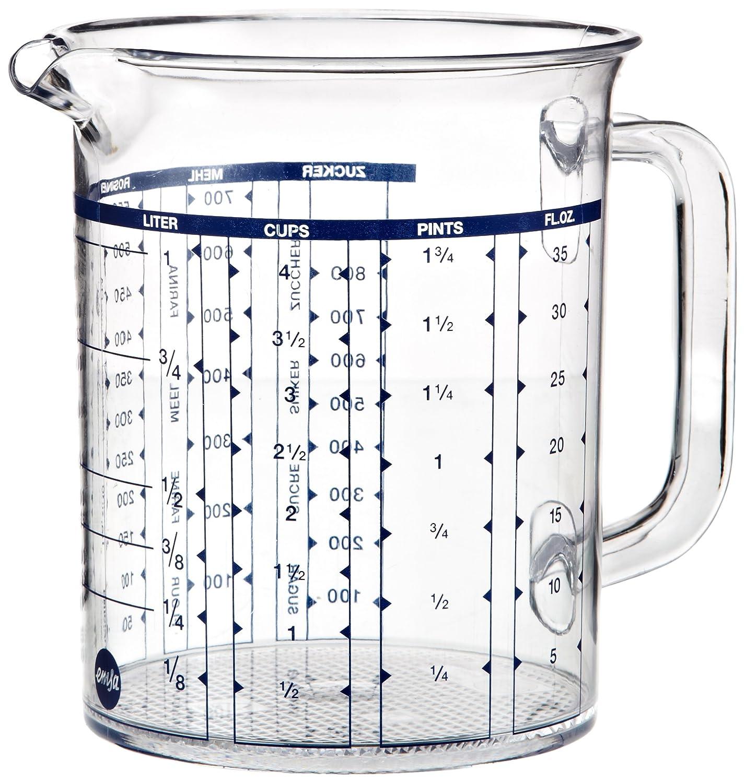 Emsa 2217050000 Superline measuring jug, 0.5 litre, transparent/blue Addis 146779