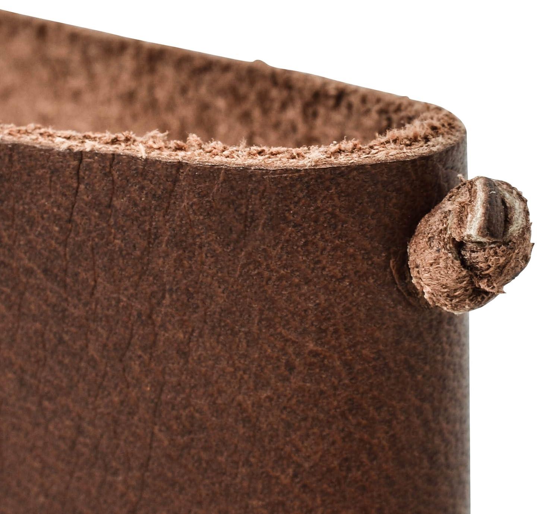 Prot/ège-passeportGaston Couverture carnet A6 Accessoire voyage vintage pratique en cuir de buffle Marron fonc/é 2P43-22-6 Gusti Cuir studio