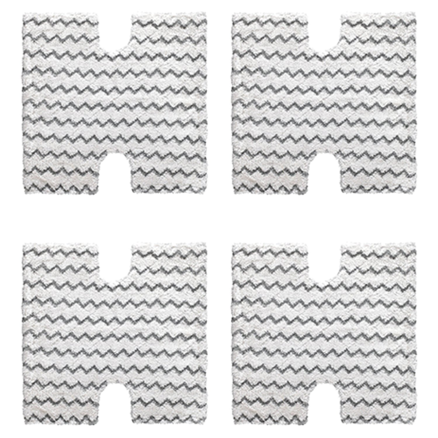 Amyehouse 4-Pack Shark Touch Free Dirt Grip Washable Microfiber Pad Repacememt for Shark Lift-Away/Genius Steam Mop 3973 S3973D S5002 S5003 S6001 S6002 S6003