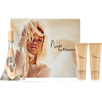 Rihanna Nude for Women-4 Pc Gift Set 3.4-Ounce EDP Spray, 0.34-Ounce EDP Spray, 3-Ounce Body Lotion, 3-Ounce Bath and Shower Gel