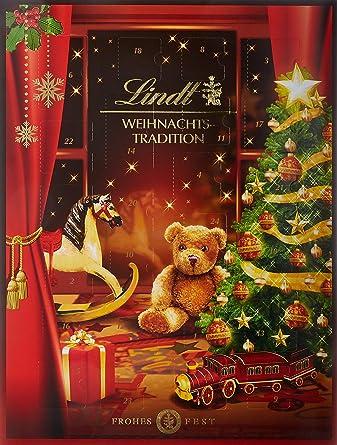 Lindor Weihnachtskalender.Lindt Weihnachts Tradition Adventskalender Enthält Mini Chocoladen Figuren Lindor Kugeln Fiorettos Und Unterschiedliche Pralinés 250g