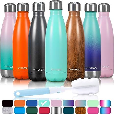 500 ml à double paroi en acier inoxydable bouteille d/'eau Vide Isolé Potable Gym