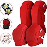 Simply Kids Innovative Soft Kids Knee and Elbow Pads with Bike Gloves I Toddler Protective Gear Set I Bike, Roller…