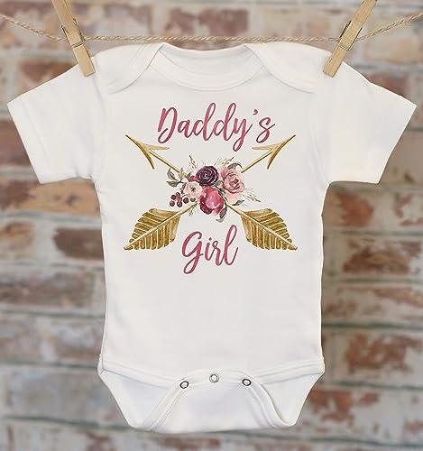 5669dc48e264d Amazon.com: Daddy's Girl Onesie® in Red, Boho Arrows Bodysuit, Cute ...