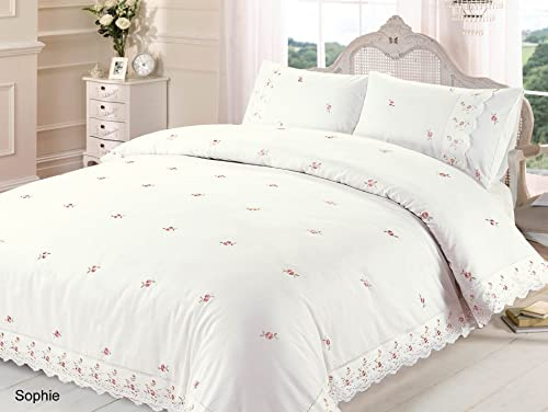 Sophie White Lace Double Duvet Cover And Pillowcase Set