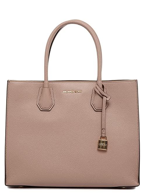 MICHAEL Michael Kors Women\u0027s Large Leather Mercer Tote Bag Fawn One Size