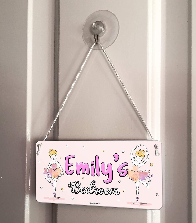 Ballerina Child Ballet Dancer Personalised Childs Bedroom Door Sign Name Plaque