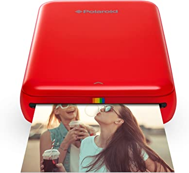 Polaroid ZIP Wireless Mobile Photo Mini Printer (Red) Compatible w/ iOS & Android, NFC & Bluetooth Devices