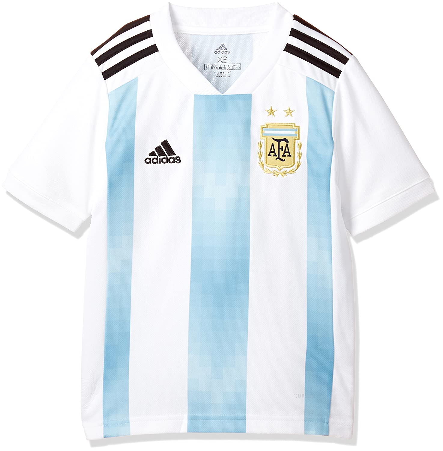 7a74fc1e3 Amazon.com   adidas 2018-2019 Argentina Home Football Soccer T-Shirt Jersey  (Kids)   Sports   Outdoors