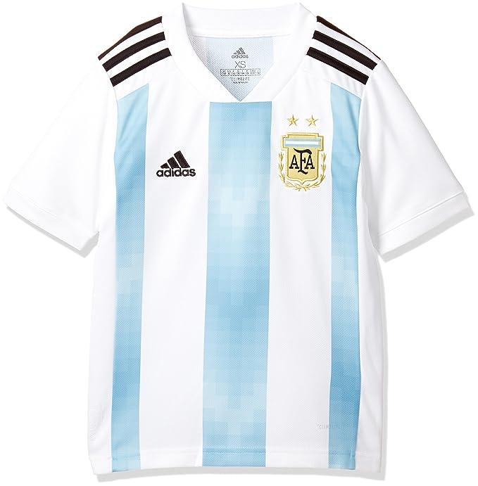 72e123da8 Amazon.com   adidas 2018-2019 Argentina Home Football Soccer T-Shirt Jersey  (Kids)   Sports   Outdoors