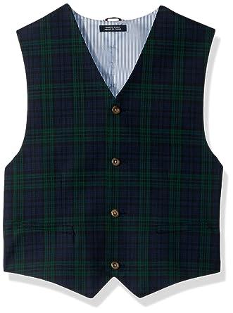 54f2fe8014b2e Amazon.com  Tommy Hilfiger Boys  Big Patterned Suit Vest