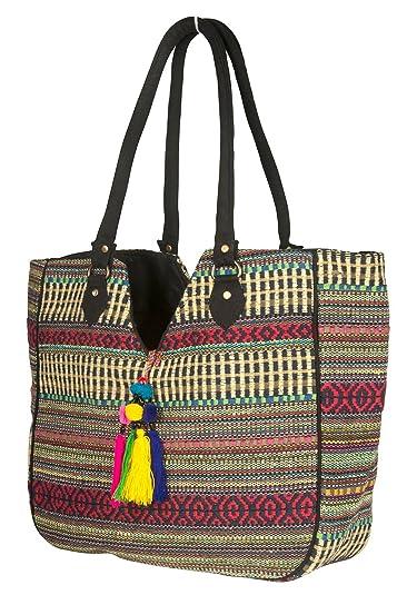 TribeAzure Large Women Shoulder Bag Tote Aztec Handbag Tassel School  Everyday Beach Picnic Grocery Laptop ( 84a18d57f6dba