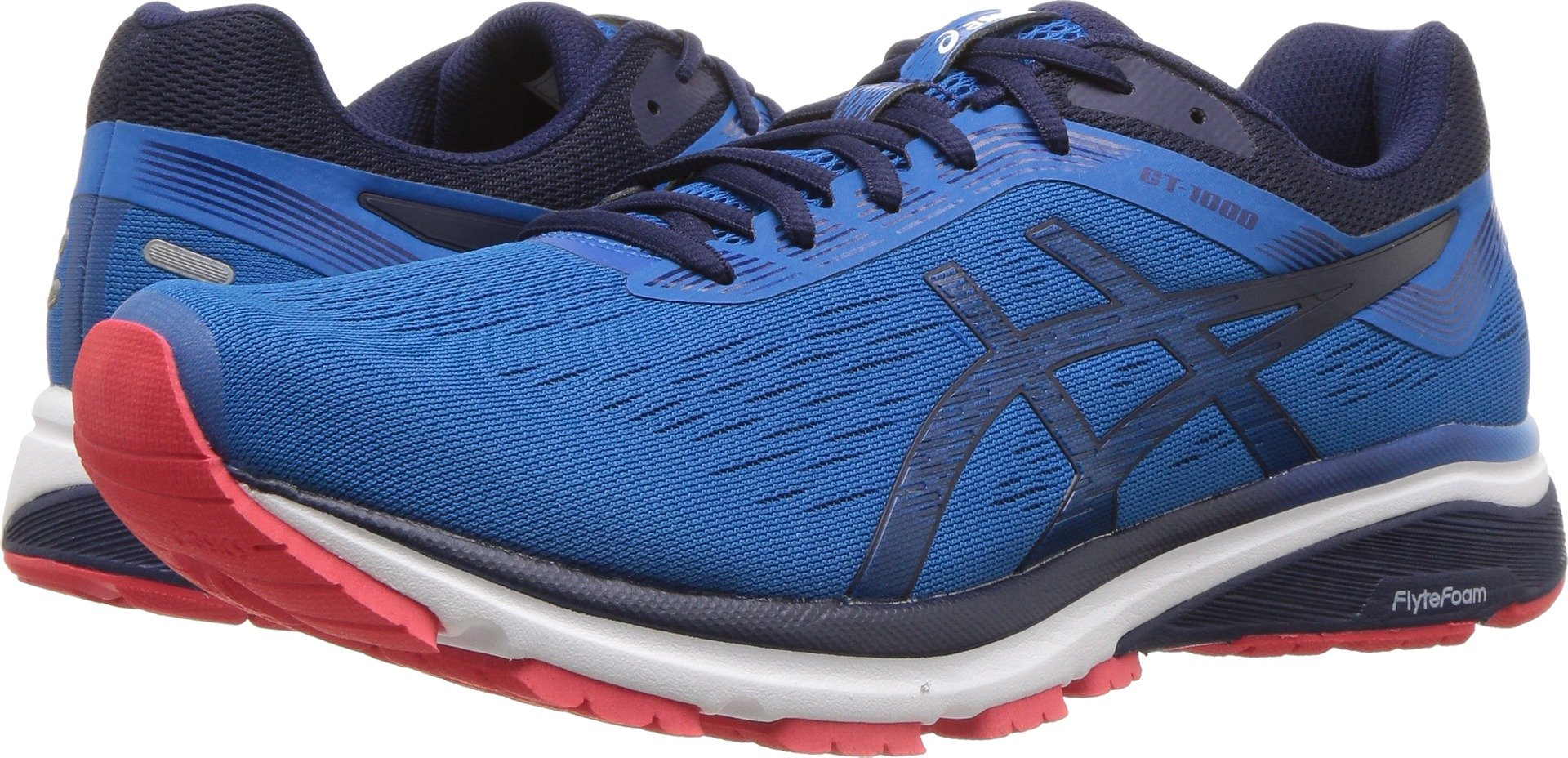 ASICS Mens GT-1000 7 Running Shoe, Race Blue/Peacoat, Size 12.5