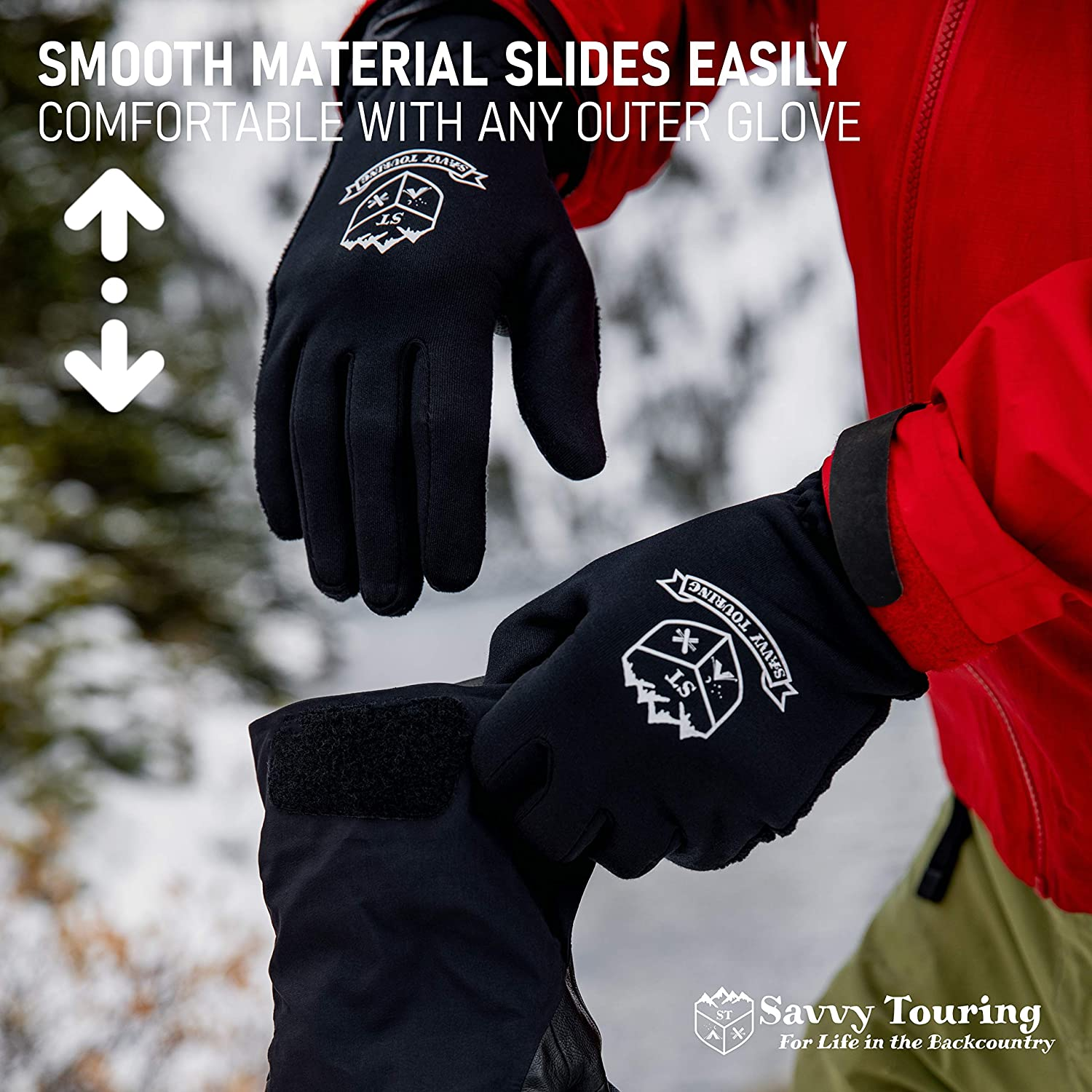Lightweight Windproof Winter Hiking Glove Liners Savvy Touring Seekers Touchscreen Tips Warm