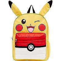 "Pokemon Pikachu 16"" Backpack with Puff Pocket, Yellow, Size 16.0"
