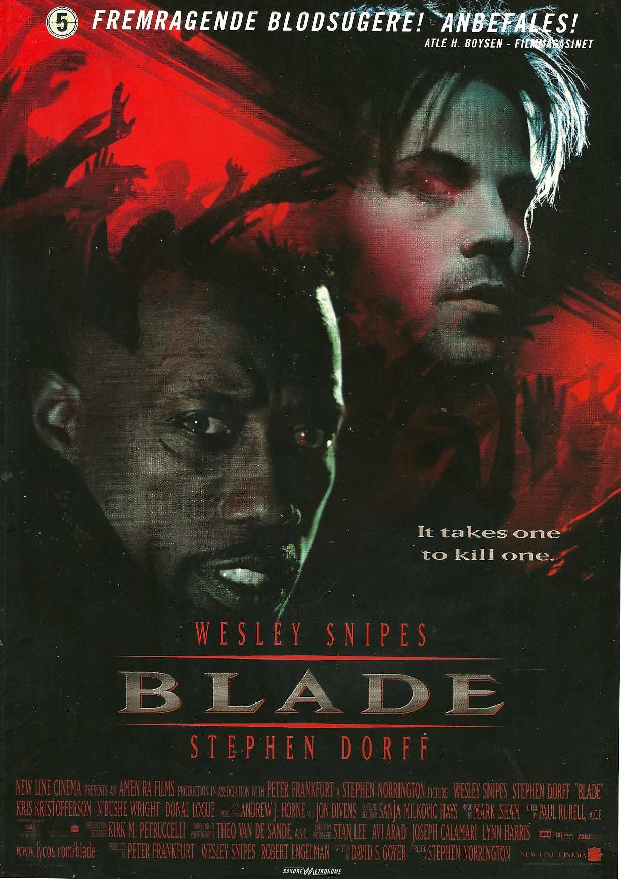 Blade With Wesley Snipes Stephen Dorff Poster Of The Movie Blade With On The Back File About This Movie New Line Cinema Amazon Com Books