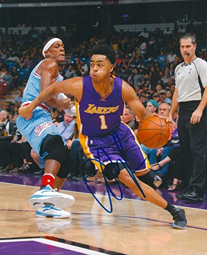 8a78fbdf4d9 D ANGELO RUSSELL signed LOS ANGELES LAKERS 8X10 PHOTO COA A - Autographed  NBA Photos