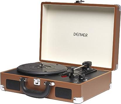 Tocadiscos Denver VPL-118 de Tres velocidades 33 1/3,45,78 RPM ...