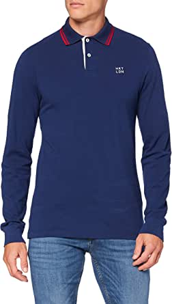 Hackett London Hkt Contrast Clr LS Camisa Polo para Hombre