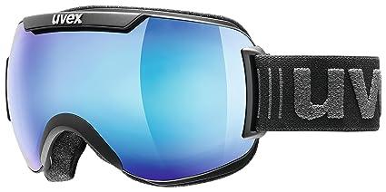 237dfd6c528f Amazon.com   Uvex Downhill 2000 FM Ski Goggle - Black Mat with Blue ...