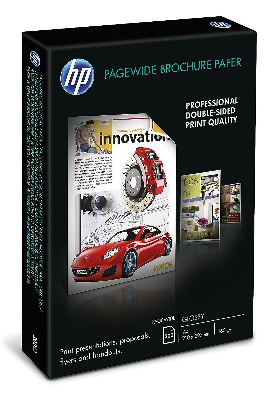 HP PageWide A3 Brosch/üren Druckerpapier 100 Blatt, DIN A3, Glossy